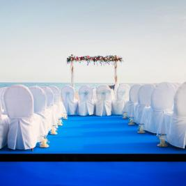 Charming beach wedding