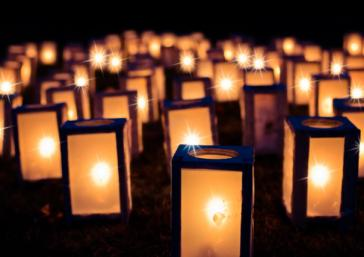 La noche las velas