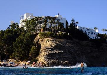 Vista del hotel Montíboli desde el mar