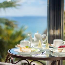 Tea with sea views