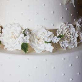 Détail de gâteau de mariage