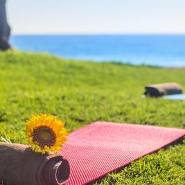 Yoga dans les jardins de Minarete