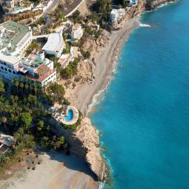 Fotografía aérea de todo el Hotel Montíboli