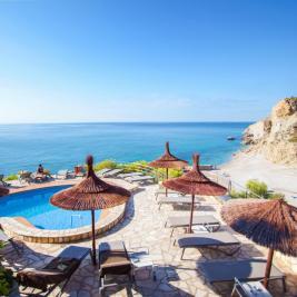 Vistas desde la piscina La Caleta
