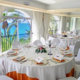 Salón para bodas frente al mar