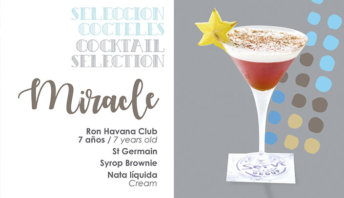 Cocktail Miracle in the menu of the Hotel Montíboli