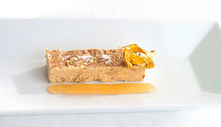 Foie Nougat at the Hotel Montíboli