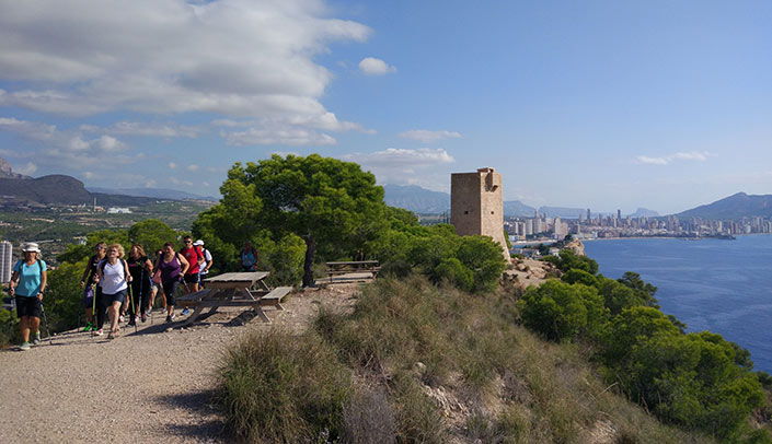 Nordic walking in Benidorm