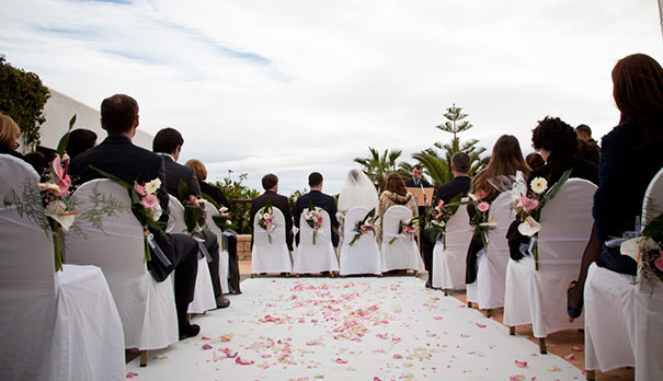Civil wedding in winter at Hotel Montíboli